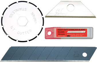 BLADES: Utility knife, safety knife, NT Cutter knife blades and more.