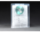 STRING-A-LONG™ Clear Poly Envelopes with CD pocket, Letter, Top Load, 6ea/pack