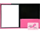 FRAMED VIEW TWO-TONE Presentation Folders, Pink, 2ea/pack