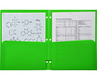 2-Pocket Plastic Folder for Binder, Lime Green