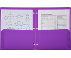 2-Pocket Plastic Folder for Binder, Lavender Purple