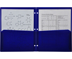 2-Pocket Plastic Folder for Binder, Midnight Blue (Dark Blue)