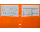 2-Pocket Plastic Folder for Binder, Mandarin Orange