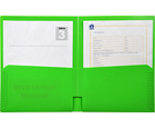 2-Pocket Plastic Folder, Lime Green