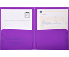 2-Pocket Plastic Folder, Lavender Purple