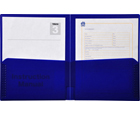 2-Pocket Plastic Folder, Midnight Blue (Dark Blue)