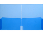 CLEAR-LINE™ 2-Pocket Plastic Folder, Transparent Blue