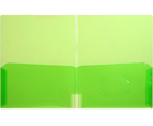 CLEAR-LINE™ 2-Pocket Plastic Folder, Transparent Green
