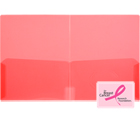 CLEAR-LINE™ 2-Pocket Plastic Folder, Transparent Pink