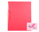 CLEAR-LINE™ Swing Lock Report Cover, Transparent Pink