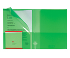 4-Pocket Plastic Presentation Folders, Transparent Green, 10ea/pack
