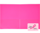 INSTA-COVER® 2-Pocket Presentation Folder, Hot Pink