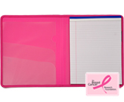 Plastic Padfolio with Pad, Hot Pink