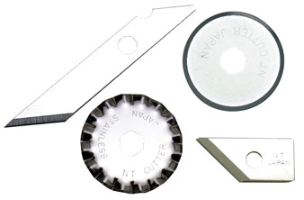BLADES FOR ART KNIVES, CIRCLE CUTTERS, ROTARY CUTTERS, MAT BOARD CUTTERS