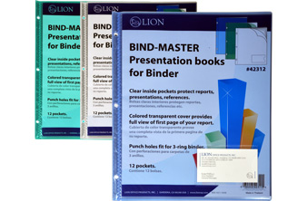 PRESENTATION BOOKS FOR BINDER