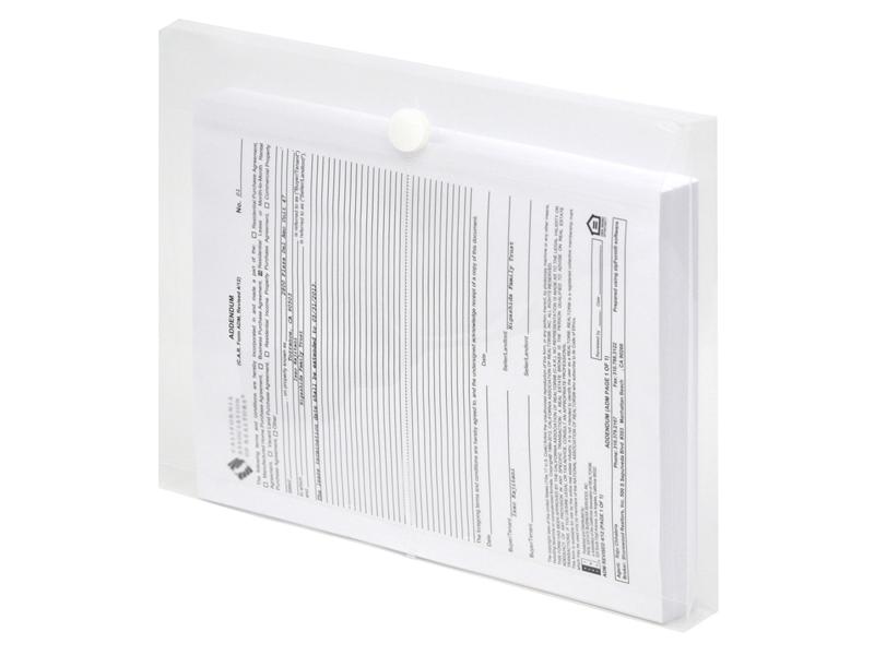 clear plastic envelopes with velcro letter size envelopes side