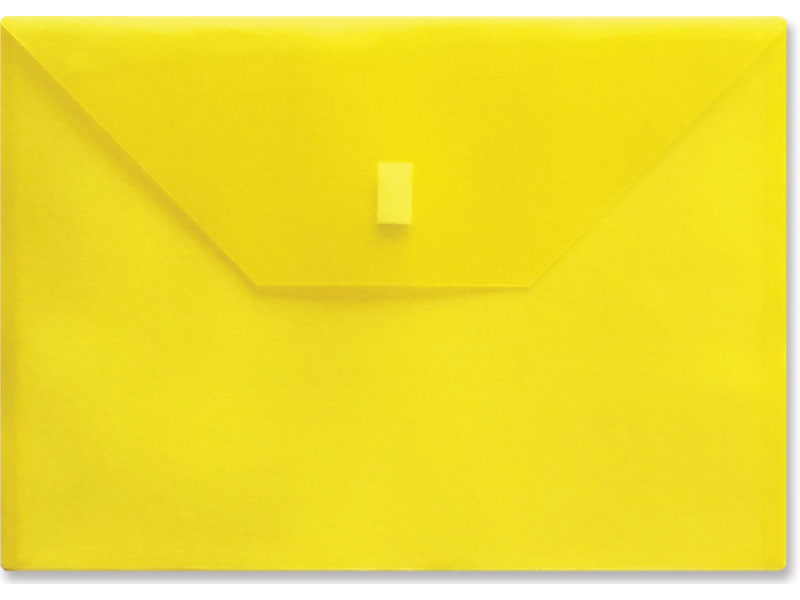 Yellow Plastic Envelope With Velcro A4 Size Envelope