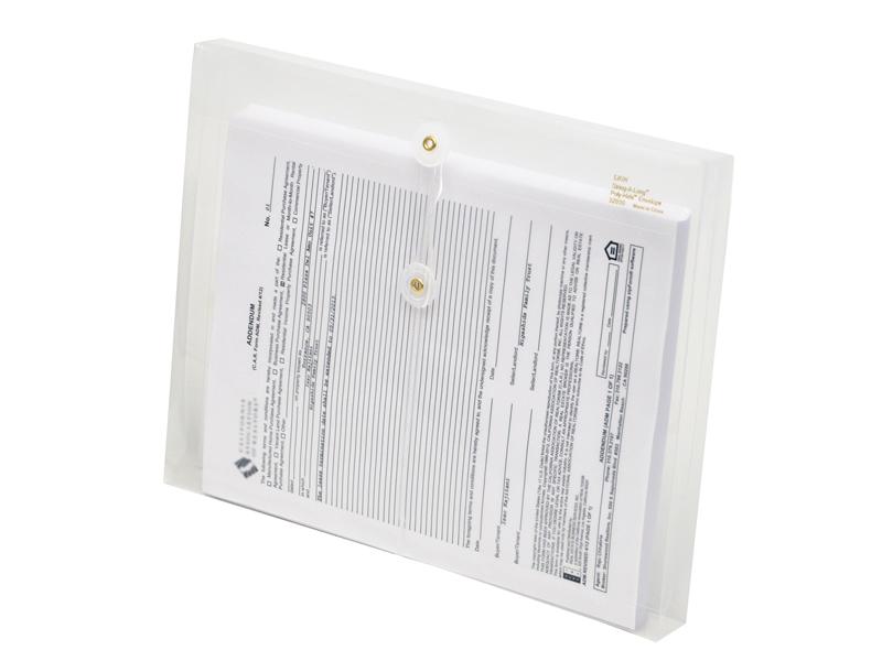 clear plastic envelopes with string letter size envelopes side