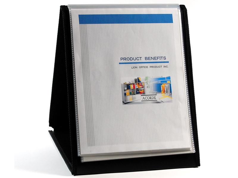 presentation easel display book letter 20 pocket vertical