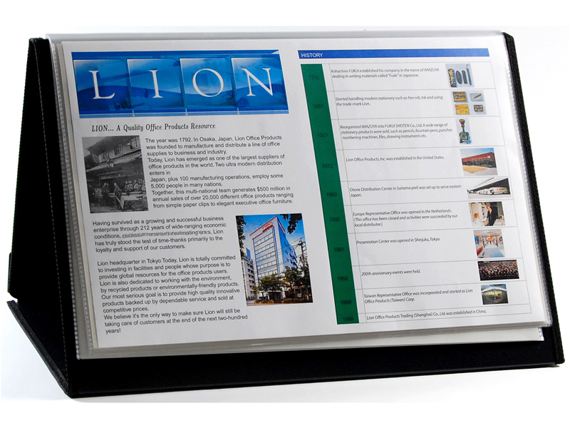 presentation easel display book 11 x17 20 pocket horizontal