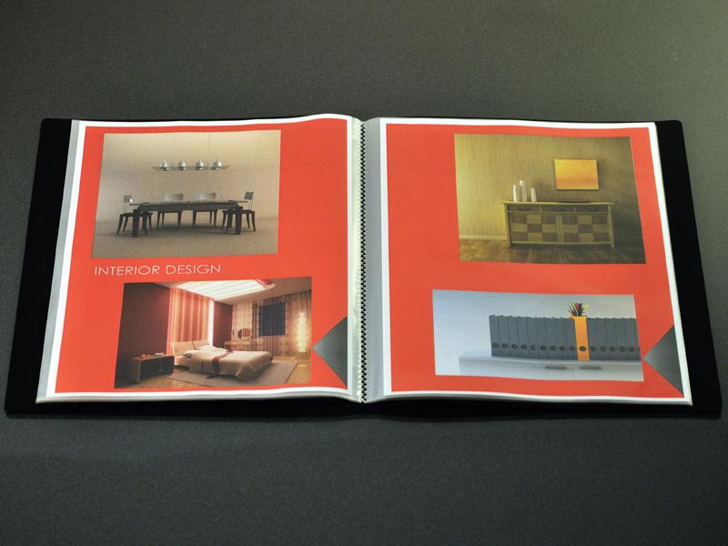 Art Portfolio Presentation Display Book, 12-pocket, Black