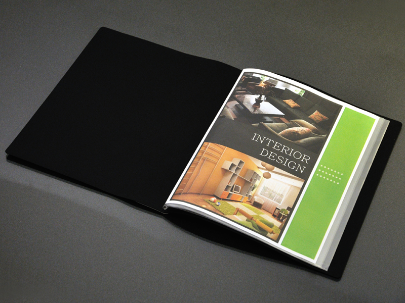 Art Portfolio Presentation Display Book 24 Pocket Black