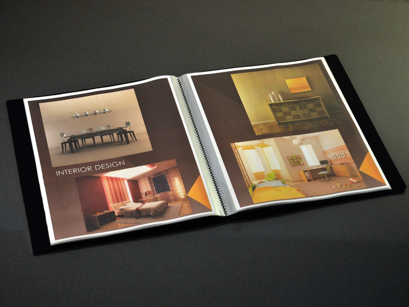 Art Portfolio Presentation Display Book, 36-pocket, Black