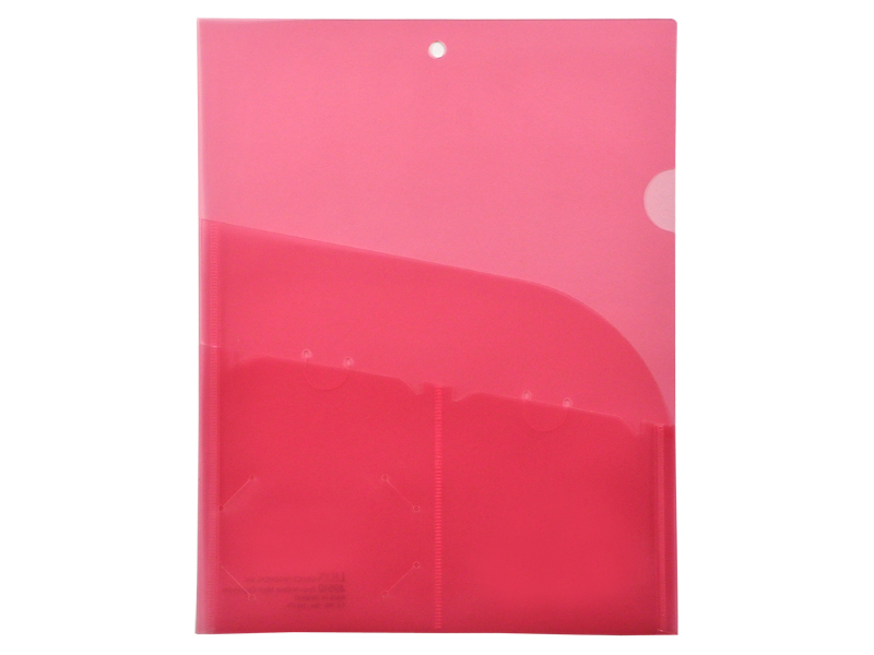 4 Pocket Red Plastic Organization Folder
