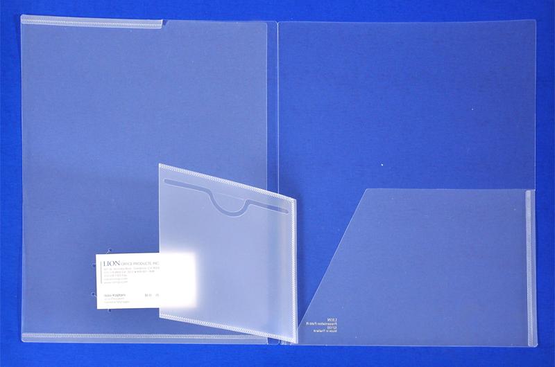 Clear Plastic Presentation Folders With Cd Pocket
