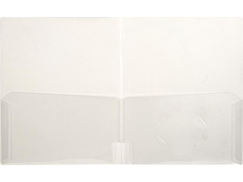 Clear 2 Pocket Plastic Folder Clear Pocket Folder