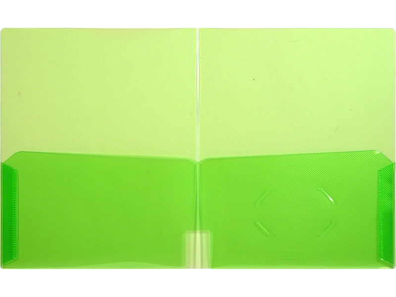 Clear 2 Pocket Plastic Folder Clear Green Plastic Folder