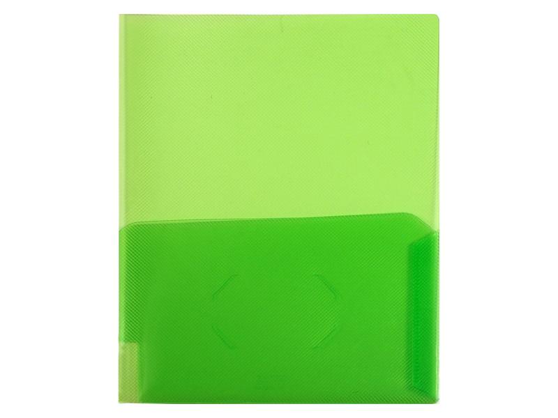 Clear 2 Pocket Plastic Folder Clear Green Plastic Folder