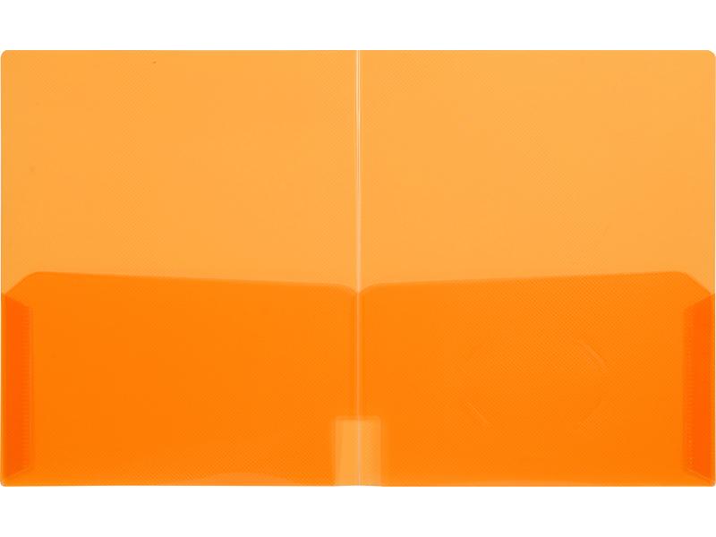 Clear 2 Pocket Plastic Folder Clear Orange Plastic Folder