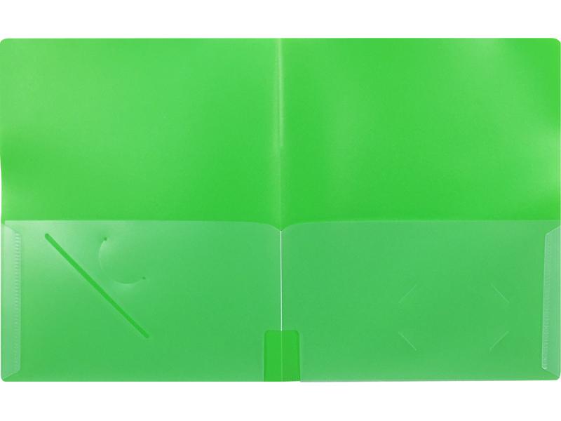 4 Pocket Folder Green Plastic Folder