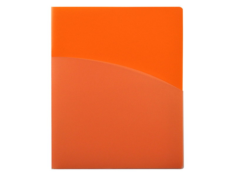4 Pocket Folder Orange Pocket Folder
