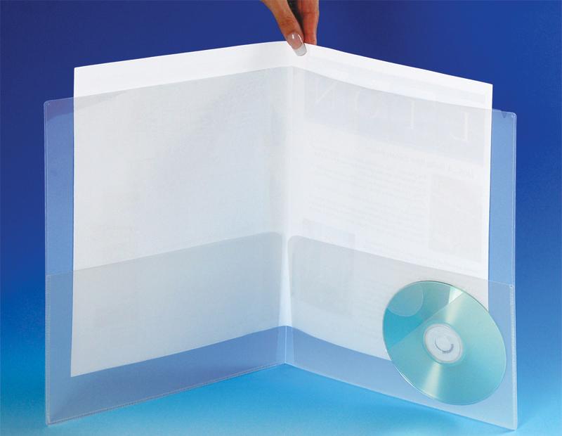 2 Pocket Clear Presentation Folder Clear Plastic Folder