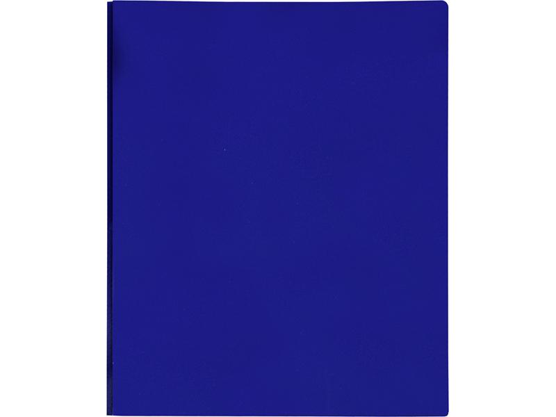 2 Pocket Plastic Folder With Fasteners Blue Plastic Folder
