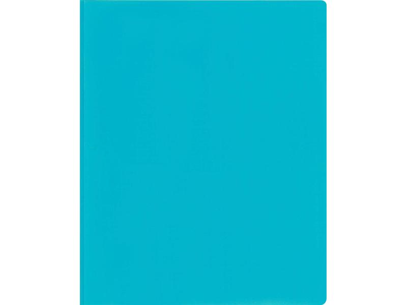 2 Pocket Plastic Folder With Fasteners Light Blue Pocket