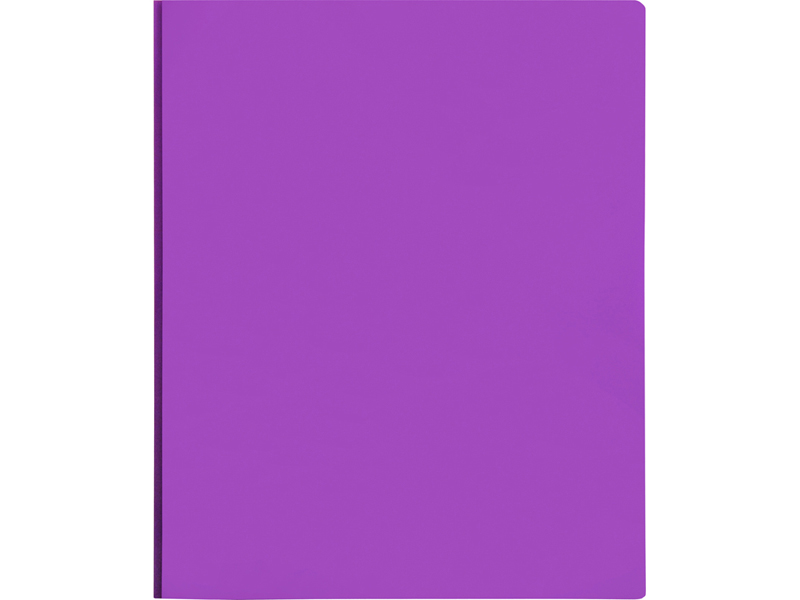 2 Pocket Plastic Folder With Fasteners Purple Pocket Folder
