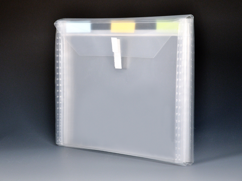 4 Pocket Clear Poly Expanding File Clear Poly Envelope