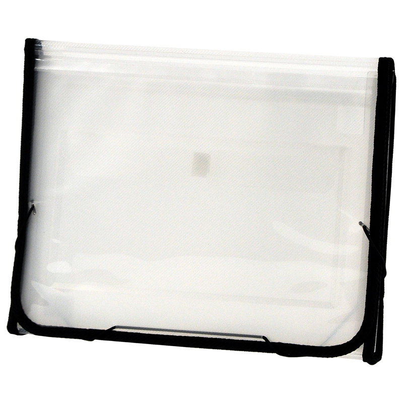 CLEAR-LINE INSTA-COVER 7-pocket Poly Expanding File, Clear