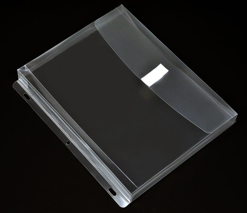 Plastic Binder Envelope With Gusset Clear