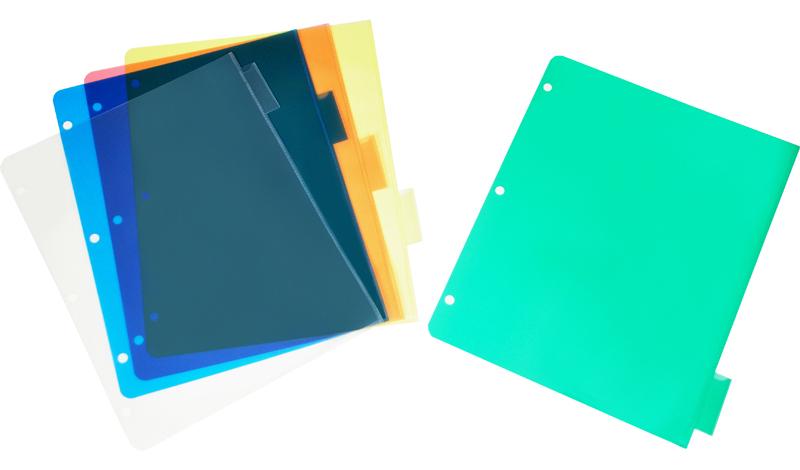 Write-On Heavy-Duty Plastic Tab Dividers W/white Labels, 5 ... |Heavy Equipment Binder Tab Names