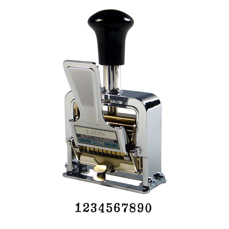 Heavy Duty 10 Digit Lever Action Numbering Machine