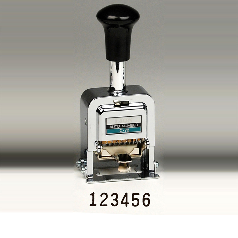 Heavy Duty 6 Digit Automatic Numbering Machine Gothic