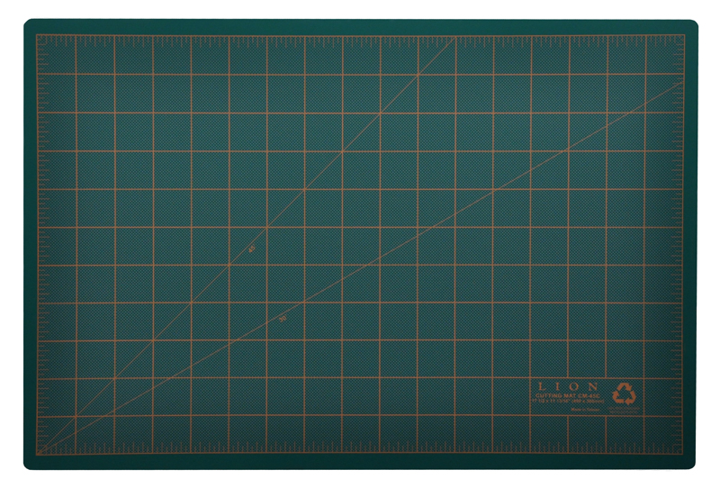 Post Consumer Recycled Cutting Mat 12 X 18 Green