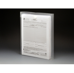 Clear Plastic Envelopes with Velcro, Letter Size Envelopes, Top