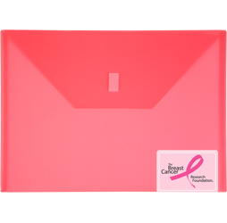 Pink Plastic Envelope with Velcro, A4 Size Envelope