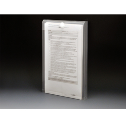 Clear Plastic Envelopes with Velcro, Legal Size Envelopes, Top