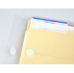Plastic Envelopes with Velcro, Legal Size Envelopes, Top
